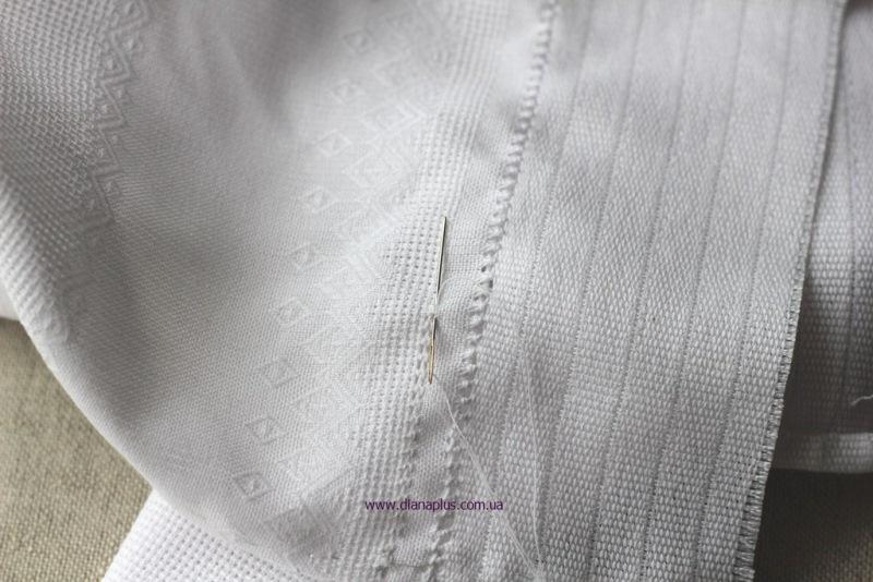 обробка краю рушника
