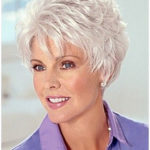 short hairstyles for over 60 Elegant best old lady grey hair wig short haircuts pinte
